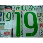Official WILLIAN #19 Brazil Home World CUP 2014 PRINT