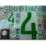 Official DAVID LUIZ #4 Brazil Home World CUP 2014 PRINT