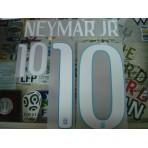 Official NEYMAR JR #10 Brazil Away World CUP 2014 Name Number