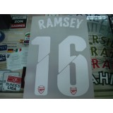 Official RAMSEY #16 Arsenal Home UCL CUP 2014-15 PRINT