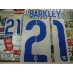 Official BARKLEY #21 England Home World Cup 2014 2014-16 PU PRINT